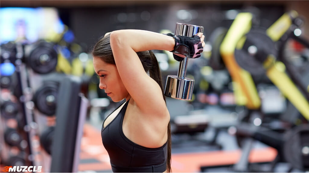 Dumbbell Overhead Tricep Extension